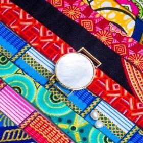 Secret de fabrication des  bracelets nacre sur tissu wax